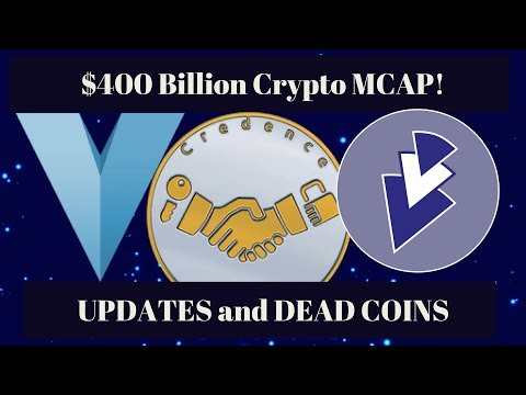 Cryptocurrency almost $400 billion! Safex + VSX update and dead coins.