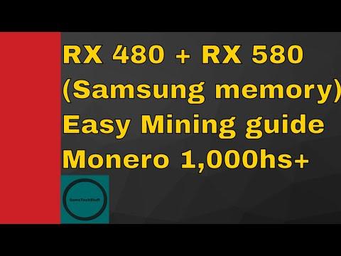 1000hs RX 480 / 580 Monero (XMR) mining – Samsung memory