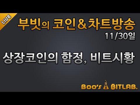 [생] 부빗 181130 헤드앤숄더 등장, 11월말 특집 / #bitcoin #cryptocurrency #비트코인 차트분석 주식선물마진 + 고양이나옴!