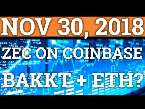 ZCASH ZEC ON COINBASE? BAKKT ADDING ETHEREUM? BINANCE! BITCOIN BTC PRICE + CRYPTOCURRENCY NEWS 2018