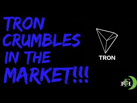 TRON TRX CRUMBLES IN THE MARKET!!! TRON DOWN AS LOW AS 15%!!!