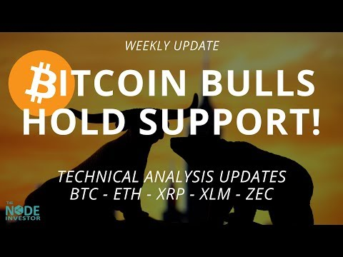 Bitcoin Prices Bounce off Support!  Updates for BTC ETH XRP XLM ZEC