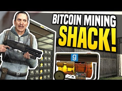 BITCOIN MINING SHACK – Gmod DarkRP | Hidden Bitcoin Base!