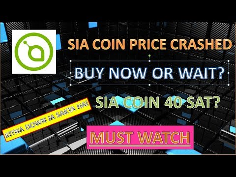 Sia coin 40 sat? I Sia coin crashed I Buy now or wait II Hindi