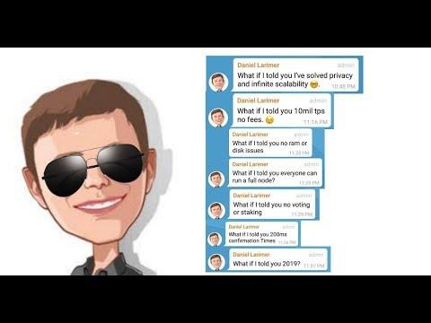 Infinite Scaling and Privacy Coming in 2019 – Dan Larimer's Latest Telegram Chat