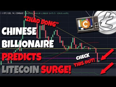 """Chinese Billionaire """"Zhao Dong"""" Predicts Litecoin Surge – $50k Bitcoin in 3 Years?"""