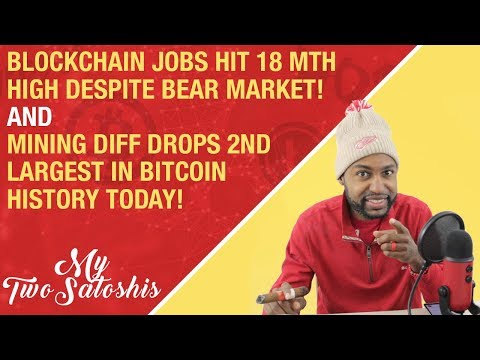 Crypto Jobs Hit 18 Month High Despite Bear Market + BTC Mining Diff. Drops 2nd Largest in  History