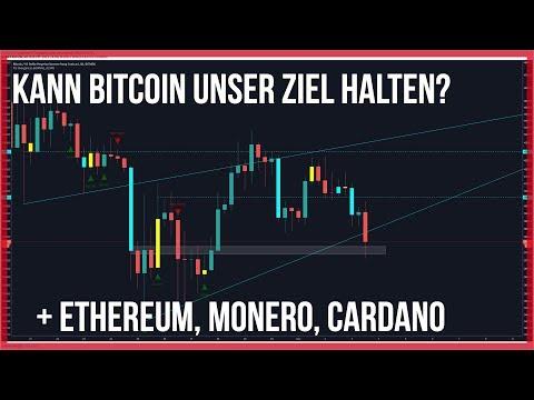 3800 Bitcoin erreicht, Ethereum geht mit,? Cardano & Monero gut für einen Einstieg
