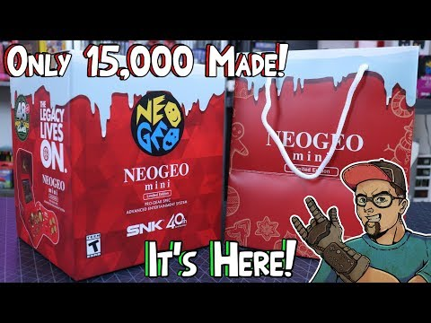 Christmas Edition Neo Geo Mini Unboxing & Overview! Limited to 15,000 Units Worldwide!