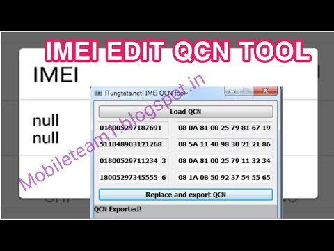 Qualcomm IMEI QCN Tool / imei repair / Qcn edit / HEX Edit  / imei converter