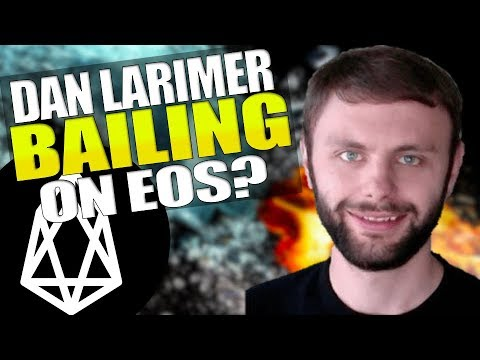 Dan Larimer Bailing On EOS? ? Ethereum Whales Up 80% This Year! McAfee Running For President 2020
