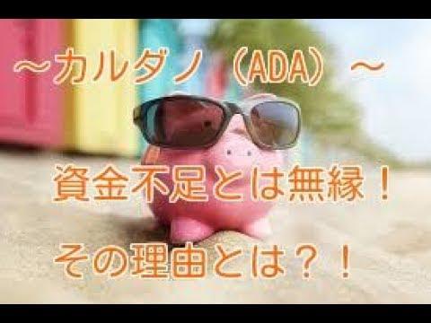 【翻訳動画】カルダノ(ADA)、市場は下落するも資金の確保は十分。強気の理由とは…