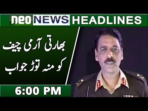 News Headlines | 6:00 PM | 6 December 2018 | Neo News