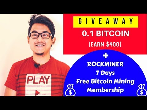 Rockminer 0.1 Bitcoin Giveaway ($400 USD) & Get Free 7days Bitcoin Miner Trail Membership