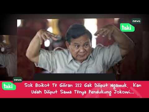 Prabowo marah Media Gak Liput REUNI 212, dulu ada yang Sok sok an Bo!kot TV