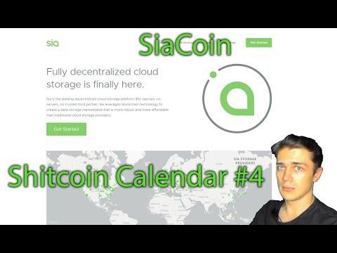 Shitcoin Calendar #4 – декабрь 2018, монетка – SiaCoin ($SC)