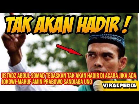 Ustadz Abdul Somad Tegaskan Tak Akan Hadir di Acara Jika Ada Jokowi Maruf Amin Prabowo Sandiaga Uno