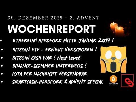 BITCOIN ETF VERSCHOBEN – ETHEREUM HARDFORK JAN 2019- BINANCE SCAM & IOTA PER NACHRICHT SENDEN