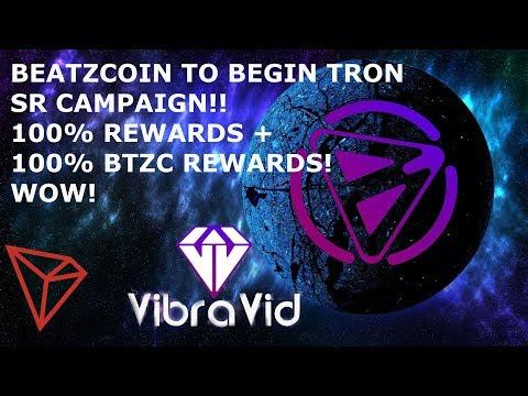 BEATZCOIN TO BEGIN TRON SR CAMPAIGN!! 100% REWARDS + 100% BTZC REWARDS! WOW!