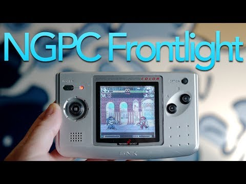 Neo Geo Pocket Color Frontlight Mod!
