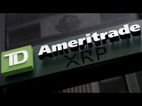 """Ameritrade Confirms """"Exploring the #XRP Space"""" Ripple Works With TD Bank!"""