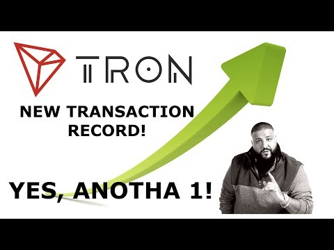 TRON RECORDS ANOTHA TRANSACTION RECORD! 2 42MIL DEC 9TH!!! KILLIN IT!
