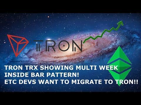 TRON TRX SHOWING MULTI WEEK INSIDE BAR PATTERN! ETC DEVS WANT TO MIGRATE TO TRON!!