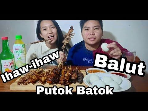 Filipino Street Foods Mukbang | Ihaw-ihaw at Balut | Kris Sia