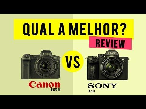 Qual a melhor mirrorless: Canon EOS R ou SONY AIII?