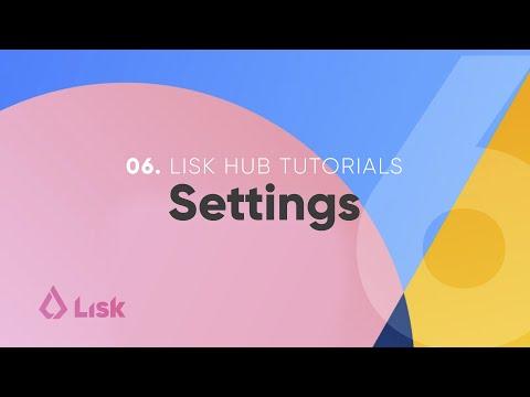 Lisk Hub Tutorial 6 – Settings: Auto Logout, Switch Network (6/8)