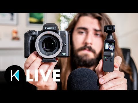DJI Osmo Pocket UPDATE, Speed Booster for EF-M, and EOS R is BROKEN! (Cameras and Coffee Ep. 17)