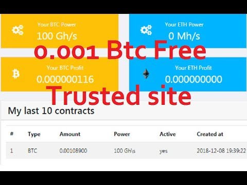 Free bitcoin mining 0.001 btc free bouns | Trusted site |