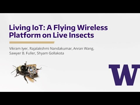 Living IoT: A Flying Wireless Platform on Live Insects