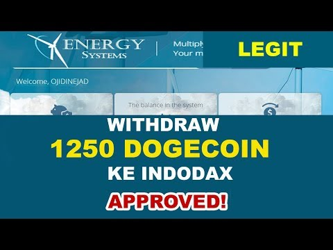 MASIH LEGIT! Withdraw 1250 DOGECOIN Ke INDODAX APPROVED