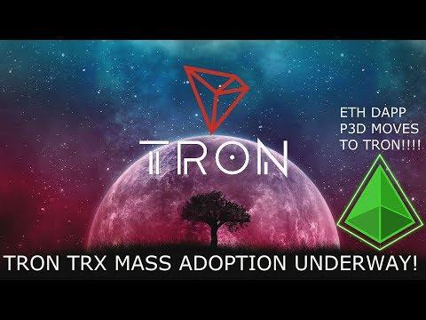 TRON TRX MASS ADOPTION UNDERWAY! PROOF ETH DAPPS MOVE TO TRON!
