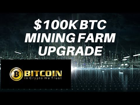 $100k upgrade to my Bitcoin mining farm! USD to BTC all day long.
