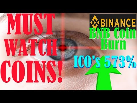 Altcoins to watch! – Binance: BNB Coin Burn – 573% ROI from ICO's