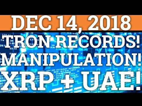TRON TRX BREAKING RECORDS! MANIPULATION IN CRYPTOCURRENCY! BITCOIN BTC, RIPPLE XRP PRICE + NEWS 2018