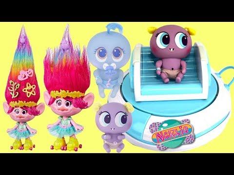 Dreamworks TROLLS Poppy Adopts Neonate Babies Nerlies & Neo In-Q-bator