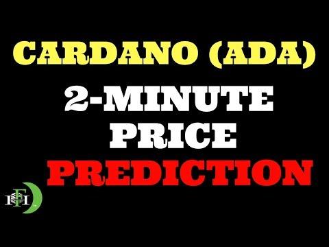 CARDANO (ADA) | 2-MINUTE PRICE PREDICTION
