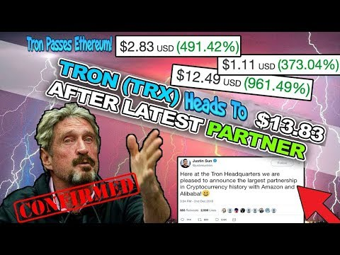 Tron TRX Passes Ethereum!? *LEGIT PROOF* TRX Moonshot TO $13.83!? MUST SEE NEWS!