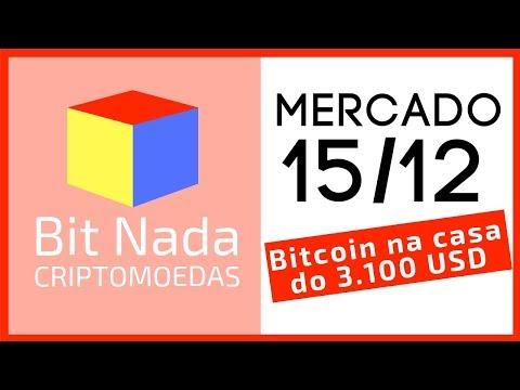 Mercado de Cripto! 15/12 Bitcoin na casa dos 3.100 USD / IOTA / Preço Justo??