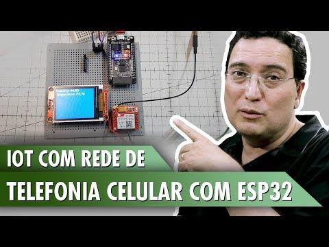 IOT com rede de telefonia celular com ESP32