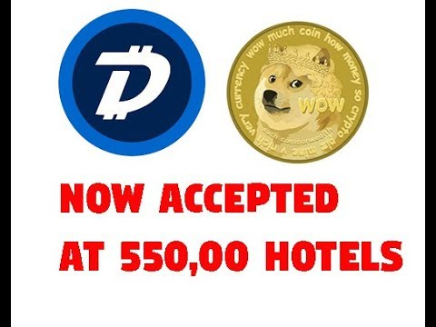 Dogecoin, DIgibyte(DGB) accepted at over 550,000 hotels, mass adoption coming?