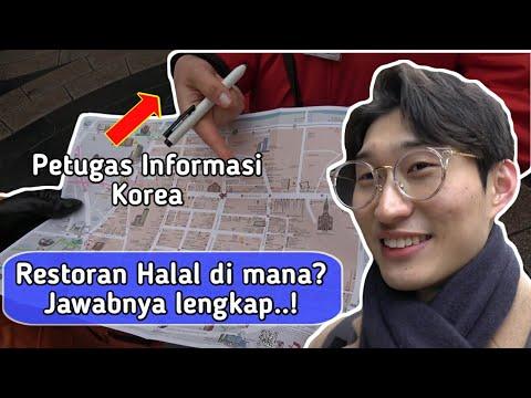 Petugas Informasi KOREA Tahu Restoran Halal Ada di Mana? [Vlog di Myeongdong]