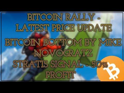 Bitcoin Rally – price update || Bitcoin Bottom || Stratis 65% profit || HINDI