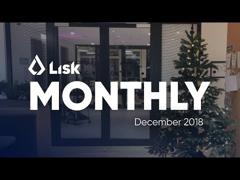 Lisk Monthly Update – 2018 Year in Review