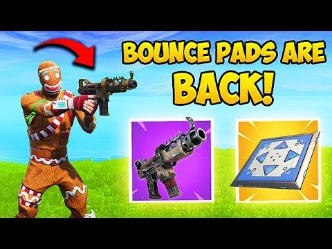 TAC SMG & BOUNCE PADS ARE BACK! – Fortnite Funny Fails and WTF Moments! #417