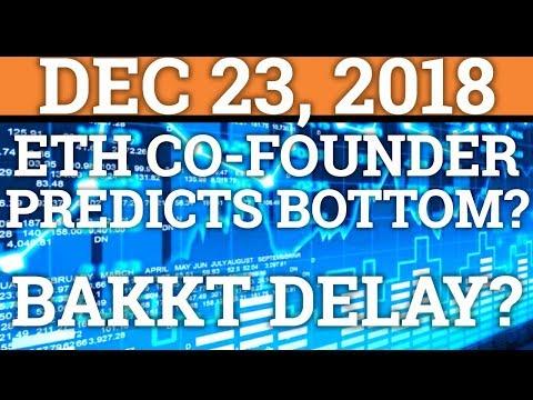 ETH FOUNDER PREDICTS BOTTOM? BAKKT DELAY? BITCOIN BTC, RIPPLE XRP, CRYPTOCURRENCY PRICE + NEWS 2018