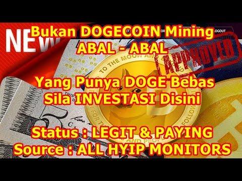 "101% #LEGIT & #PAYING : #DOGE Mengalir Terus Dari #WEBSITE ""Bukan DOGECOIN Mining ABAL-ABAL"" 2018"